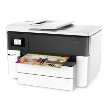 Мултифункционално мастиленоструйно устройство HP OfficeJet Pro 7740 Wide Format All-in-One Printer, цветен, принтер/копир/скенер/факс, 4800 x 1200 dpi, 18 стр/мин, USB 2.0 , Host USB, Ethernet, Wi-fi, RJ-11 x2, A3, ADF image
