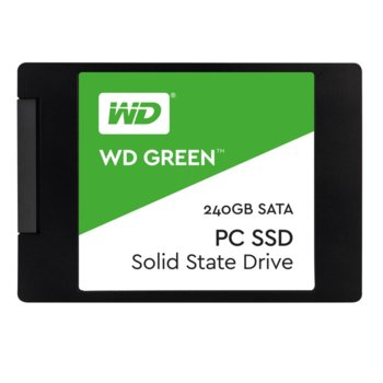"Памет SSD 240GB Western Digital Green PC, SATA 6Gb/s, 2.5""(6.35 cm), скорост на четене 540MB/s, скорост на запис 465MB/s image"