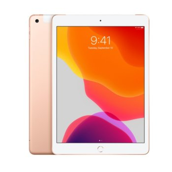"Таблет Apple iPad 7 10.2"" (MW6D2HC/A)(Gold), Wi-Fi + Cellular, LTE, 10.2"" (25.90 cm) IPS Retina дисплей, четириядрен A10 Fusion 2.34GHz, 2GB RAM, 32GB Flash памет, 8.0 & 1.2 Mpix, iPadOS, 493g image"