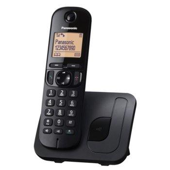 """Безжичен телефон Panasonic KX-TGC210FXB, 1.6""""(4,06) LCD дисплей, черен image"""
