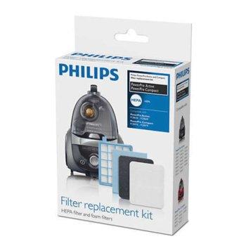 Филтър Philips FC8058/01, 1x EPA10 миещ се филтър за мотор, 1x входящ филтър за мотор, 2x изходящи пенести image