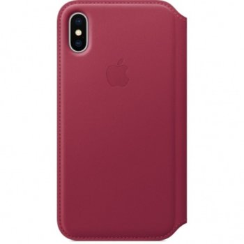 Apple iPhone X Leather Folio - Berry product