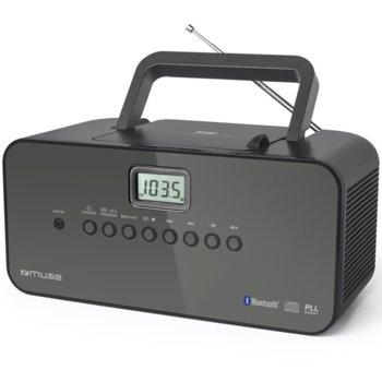 CD радиокасетофон Muse M-22, CD/CD-R/CD-RW, Bluetooth, AUX in, FM/MW, черен image