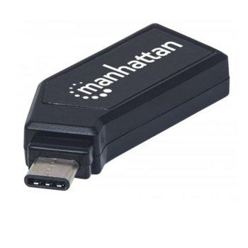 Четец за карти Manhattan 102001, USB C(м) към MicroSD/SD/MMC, 24-in-1, черен image