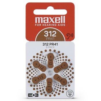 Батерии цинкови Maxell ZA312, 1.4V, 6 бр. image