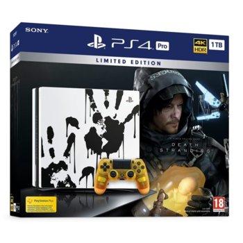Конзола Sony PlayStation 4 Pro 1TB + Death Stranding, черна image