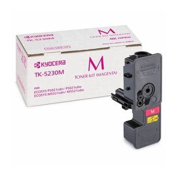 Тонер касета за Kyocera ECOSYS M5521/P5021, Magenta, - TK-5230M - 12550 - GraphicJet - неоригинален, Заб.: 2200 брой копия image