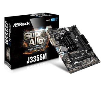 Дънна платка ASROCK J3355M, Intel® Dual-Core Processor J3355, DDR4, PCI-Е (HDMI&DVI&VGA), 2 x SATA3 6.0 Gb/s, 2 x USB 3.1 Gen 1, 2 x USB 2.0, Micro ATX image