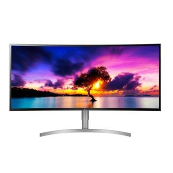 """Монитор LG 38WK95C-W, 37.5"""" (95.25 cm) извит IPS LED панел, QHD 4K, 5ms, 1 000 000:1, 300cd/m2, Display Port, 2x HDMI, 2x USB 3.0, USB Type C image"""