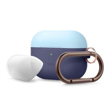 Калъф за слушалки Elago Duo Hang Silicone EAPPDH-JIN-PBLLU, за Apple AirPods Pro, силиконов, син-светлосин image