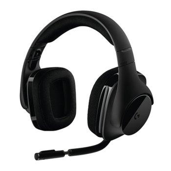 Слушалки Logitech G533, безжични, микрофон, гейминг, черни image