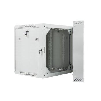 "Комуникационен шкаф Lanberg WF02-6612-10S, 19"", 12U, 600 x 600 x 640.3 mm, сив image"