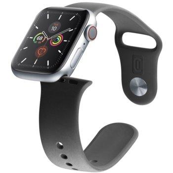 Каишка за смарт гривна Cellularline Urban 42/44mm, за Apple Watch, силиконова, черна image