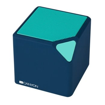 Тонколона Canyon CNS-CBTSP2, 2.0, RMS 2W, Bluetooth/micro USB/3.5mm jack, синя, безжична, преносима, микрофон image