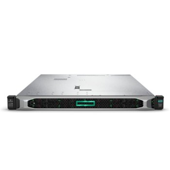 Сървър HPE DL360 G10 (P03631-B21), десетядрен Cascade Lake Intel Xeon 4210 2.2/3.2 GHz, 16GB DDR4 RDIMM, без твърд диск, 4x 1GbE LOM, 2x USB 3.0, без OS, 1x 500W PSU image