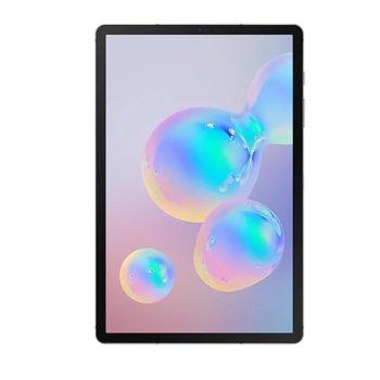 "Таблет Samsung SM-T865 Galaxy Tab S6 (SM-T865NZAABGL)(сив) с клавиатура, LTE, 10.5"" (26.67 cm) Super AMOLED WQXGA дисплей, осемядрен Qualcomm SM8150 2.8GHZ, 6GB RAM, 128GB Flash памет (+ microSD слот), 13.0 + 5.0 & 8.0 Mpix, Android image"