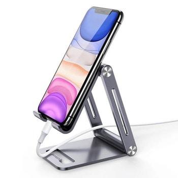 """Стойка за телефон Ugreen Foldable Multi-Angle Phone Stand, мобилни устройства с размер на екрана от 4.7"""" до 7.9"""", сива image"""