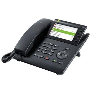 Стационарен телефон Unify OpenScape Desk Phone, PoE, Switch, Опция стойка за стена, 5 програмируеми бутона, жах за hands-free, черен image