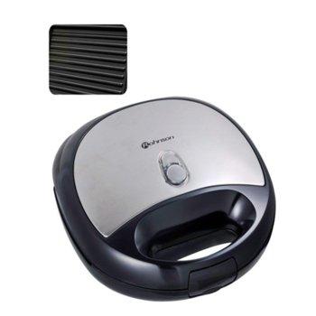 Сандвич скара Rohnson R 262, корпус Inox, незалепващи плочи – тип грил, 750 W, черен/металик image