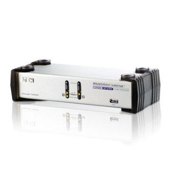 KVM суич ATEN CS1742, от 2x USB A(ж), 2x VGA(ж), 2x 3.5mm jack(ж) към 1x USB A(ж), 2 x SPHD-15(м), 2x SPHD-15(ж), 1 устройство image