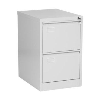 Шкаф Carmen CR-1230 J, 2 бр. чекмеджета, метален, бял image