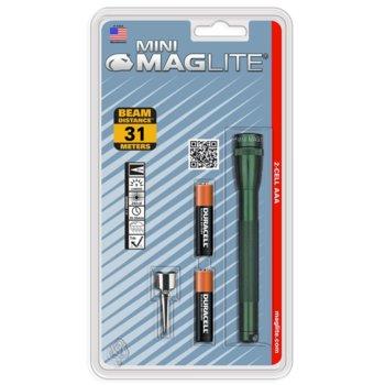 Фенер Mini MAGLITE M3A396L, 2 батерии AAA, 9 lm, водоустойчивост, зелен image