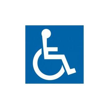 """Самозалепващ знак """"Инвалид"""", с два начина на залепване image"""