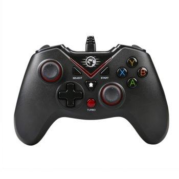 Геймпад Marvo GT-016, за PC/PS3, вибриращ, USB, черен image