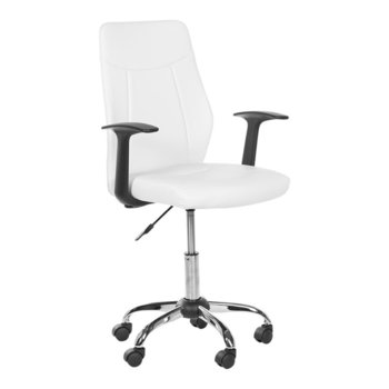 Офис стол Carmen 6045, еко кожа, материал подлакътници полипропилен, газов амортисьор, бял image