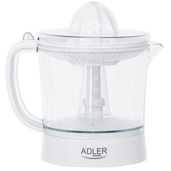 Цитрус преса Adler AD 4009, 1000 мл, електрическа, въртене в двете посоки, 2 конусовидни приставки, автоматично стартиране и спиране, 60W, бяла image