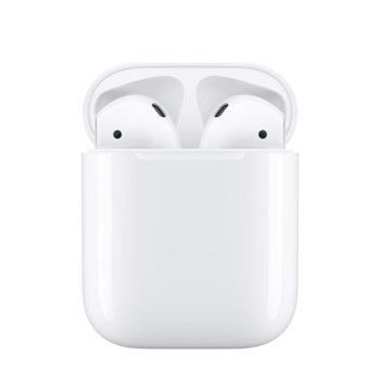 Слушалки Apple AirPods2 с Charging Case (жичен), безжични, Bluetooth, микрофон, до 5 часа време на работа, бели  image