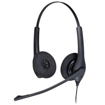 Слушалки Jabra BIZ 1500 Duo, микрофон, контролер за повиквания, QD жак, черни image