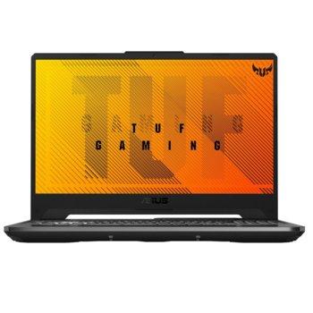 """Лаптоп Asus TUF A15 FA506II-BQ112 (90NR03M2-M03420), шестядрен AMD Ryzen 5 4600H 3.0/4.0 GHz, 15.6"""" (39.62 cm) Full HD IPS Anti-Glare Display & GF GTX 1650 Ti 4GB, (HDMI), 8GB DDR4, 1TB HDD, 1x USB 3.2 Type C, Free DOS  image"""