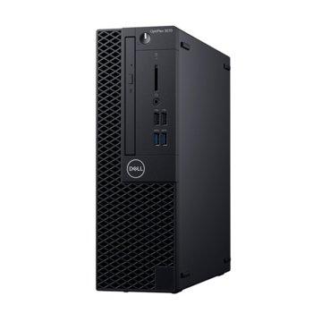 Настолен компютър Dell OptiPlex 3070 SFF (DTO3070SFFI54G1TU_UBU-14), шестядрен Coffee Lake Intel Core i5-9500 3.0/4.4 GHz, 4GB DDR4, 1TB HDD, 4x USB 3.1, клавиатра и мишка, Linux  image