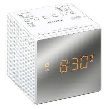 Радио портативно Sony ICF-C1T, 230 V AC, CR2032, бяло image