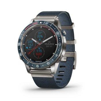 Смарт часовник Garmin MARQ™ Captain, титаниев корпус, до 12 дни работа, Bluetooth, Wi-Fi, син image