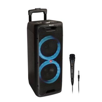 Тонколона NGS Wild Jungle 1, 2.0, 200W, Bluetooth, AUX, USB, черна, караоке, с включен микрофон, безжична, до 8 часа време на работа, RGB подсветка image