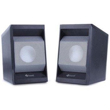 Тонколона T006, 2.0, 2x3W, 90Hz-20kHz, черни, 3.5mm стерео мъжки аудиоконектор за входящ аудиосигнал image