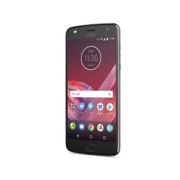 """Смартфон Motorola Moto Z2 Play (сив), 5.5"""" (13.97 cm) Full HD Super AMOLED дисплей, осемядрен Snapdragon 626 2.2 GHz, 4GB RAM, 64GB Flash памет(+microSD слот), 5.0 & 2.0, Mpix camera, Android, 145g image"""