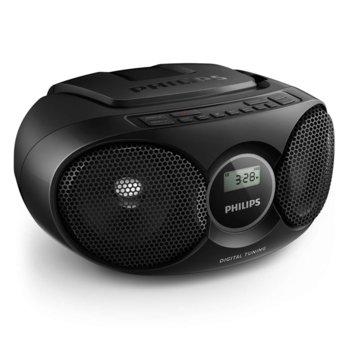 CD радиокасетофон Philips AZ215B, CD, FM, 3W (RMS) image