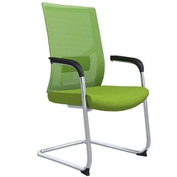 Посетителски стол RFG Snow M, до 120кг. макс тегло, дамаска, зелен image