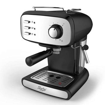 Ръчна еспресо машина Zephyr ZP 1171 J, 850 W, 15 bar, 1.5 литра, разпенване, инокс/черна image