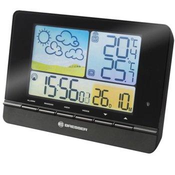 Електронна метеостанция Bresser MeteoTrend, цветен дисплей, подсветка, календар, час, аларма, черна image