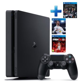 Playstation 4 Slim 500GB + 3 Games Bundle