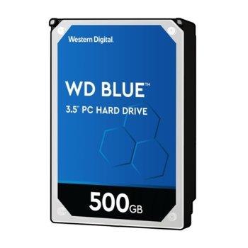 """Твърд диск 500GB WD Blue PC, SATA 6Gb/s, 7200rpm, 64MB, 3.5"""" (8.89 cm) image"""