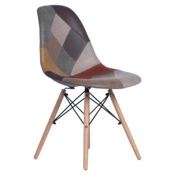 Трапезен стол Carmen 9966 X, дамаска, многоцветен image