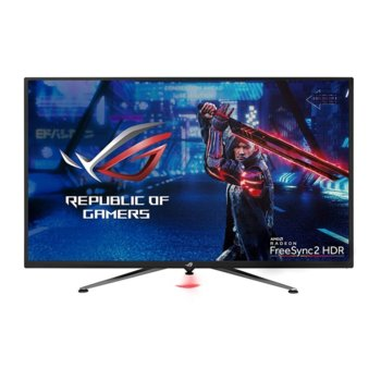 "Монитор Asus ROG Strix XG438Q, 43"" (109.22 cm) VA панел, 120Hz, Ultra HD, 4ms, 450 cd/m2, Display Port, HDMI image"