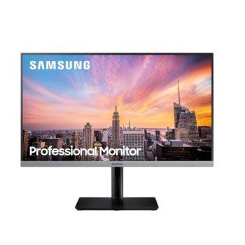"""Монитор Samsung S24R650FDU, 23.8"""" (60.45 cm) PLS панел, 75Hz, Full HD, 5ms, 5 000 000:1, 250cd/m2, DisplayPort, HDMI, VGA, USB Hub  image"""