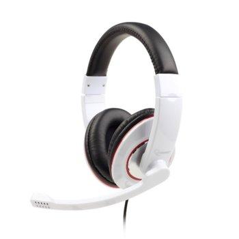 Слушалки Gembird MHS-001-GW, микрофон, бели image
