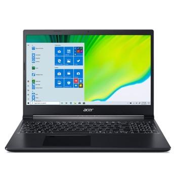 "Лаптоп Acer Aspire 7 A715-75G (NH.Q9AEX.001), четириядрен Comet Lake Intel Core i5-10300H 2.5/4.5 GHz, 15.6"" (39.62 cm) Full HD IPS Anti-Glare Display & GF GTX 1650 Ti 4GB, (HDMI), 8GB DDR4, 512GB SSD, 1x USB Type-C, No OS image"